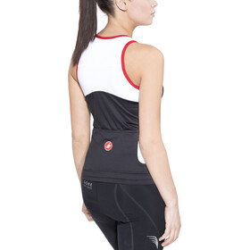 Castelli Solare Top Mujer, black/white/red